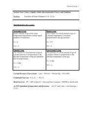 Section Four: Gases, Liquids, Solids ... - Moorpark College