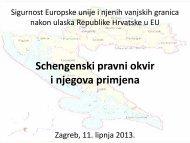 Schengenski pravni okvir i njegova primjena - prezentacija