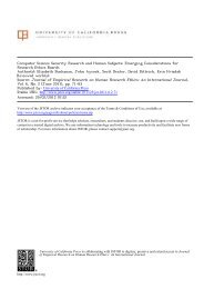 Emerging Considerations for Research Ethics Boards - Oak Ridge ...