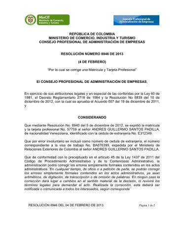 8946 - Consejo Profesional de Administración de Empresas