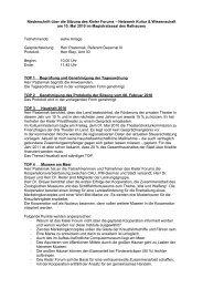 Niederschrift über die Sitzung des Kieler Forums – Netzwerk Kultur ...