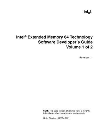 Intel® Extended Memory 64 Technology Software Developer's Guide
