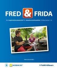 Häftet Fred och Frida - Folkhälsan