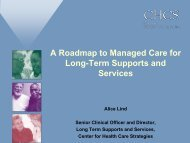 A Roadmap to Managed Care for Long-Term Supports and Services