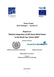 Market Integration of Off-shore Wind Power in the North Sea