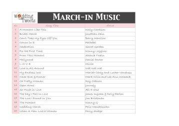 March In Music Wedding Tweets