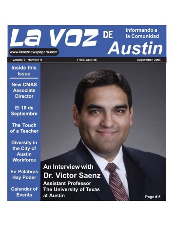 La Voz de Austin September, 2008 - La Voz Newspapers
