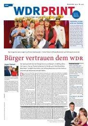Bürger vertrauen dem WDR - Das Image des Senders ... - WDR.de