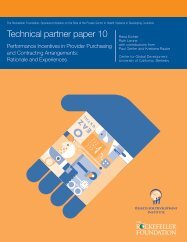 Performance Incentives in Provider Purchasing and Contracting ...