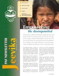 Jeevika - VOL 1, NUMBER 2, MARCH 2007 - Poverty Alleviation ...