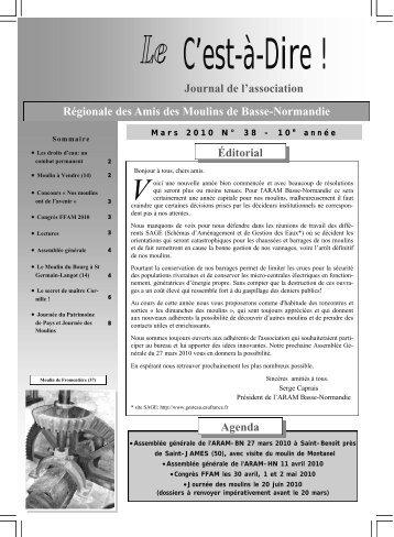 Agenda Éditorial Journal de l'association Régionale des ... - FFAM