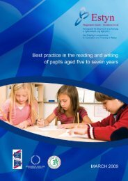 Best practice in the reading and writing of pupils aged five to ... - Estyn