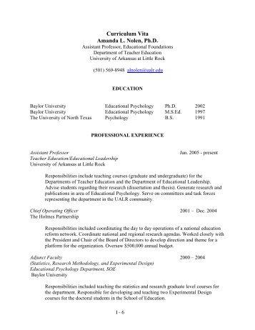curriculum vita sean w mulvenon ph d professor of
