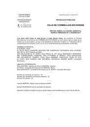 Procès-verbal du Conseil municipal du 7 janvier 2013