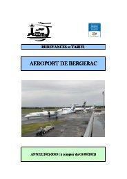 Tarification - Aéroport de Bergerac