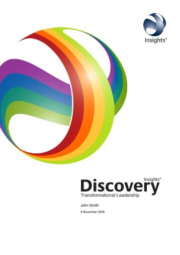 Insights Discovery Transformational Leadership ... - Inside Inspiration