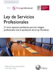 Ley de Servicios Profesionales - Colegio de Ingenieros Técnicos de ...