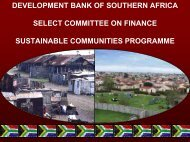 Development Bank of South Africa presentation