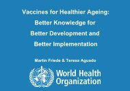 Vaccines for Healthier Ageing: Better Knowledge ... - Globe Network