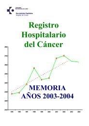 Memoria 2004 RCH - EXTRANET - Hospital Universitario Cruces