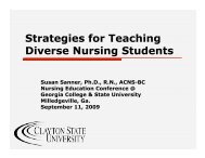 Strategies for Teaching Diverse Nursing Students - University ...