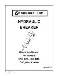 HYDRAULIC BREAKER - Gearmore, Inc.
