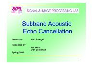 Subband Acoustic Echo Cancellation - SIPL