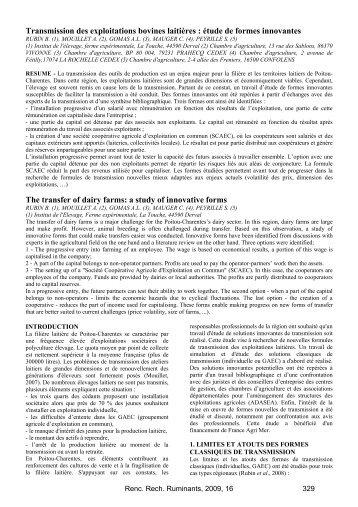 Transmission des exploitations bovines laitières : étude de ... - 3R