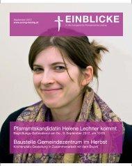 Pfarramtskandidatin Helene Lechner kommt Baustelle ...