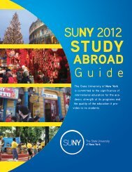study abroad - State University of New York