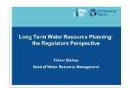 Long Term Water Resource Planning: the Regulators Perspective