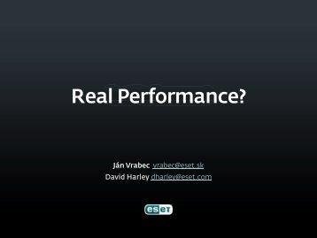 Real Performance - Eset