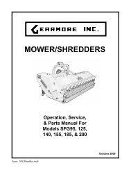 MOWER/SHREDDERS - Gearmore, Inc.