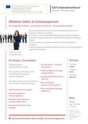 Effektives Selbst- & Zeitmanagement - Seminarmarkt