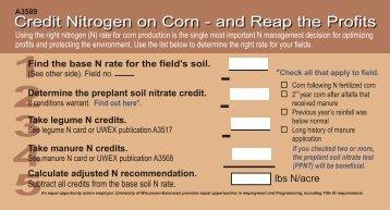 Credit Nitrogen on Corn - and Reap the Profits - Wisconsin Corn ...
