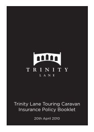 Trinity Lane Touring Caravan Insurance Policy Booklet - Adrian Flux