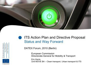 ITS Action Plan/Directive - datex2