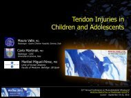 Tendon Injuries in Children and Adolescents