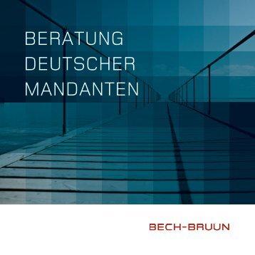 BERATUNG DEUTSCHER MANDANTEN - Bech-Bruun