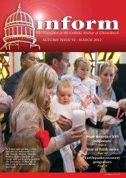 Inform 92.pdf - Catholic Diocese of Christchurch