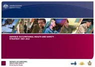 Defence Occupational Health and Safety Strategy 2007-1 - Comcare