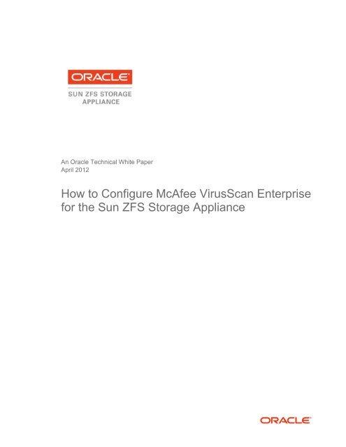 How to Configure McAfee VirusScan Enterprise for the Sun
