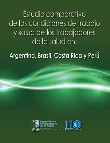 Estudio comparativo de las condiciones de trabajo y - PAHO/WHO