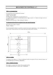 REGLEMENT DU FOOTBALL A 7 - Footeo