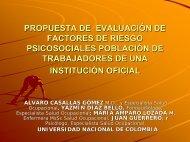 propuesta de evaluación de factores de riesgo psicosociales ...