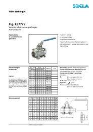 Fiche technique Fig. X3777S - SOCLA