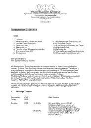 Rundschreiben 2 - 2013/14 - Wilhelm-Hausenstein-Gymnasium