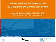 Improving quality of diabetes care by integrating ... - NHS North West