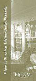 Lifetime Limited Warranty - Home Doors & Windows