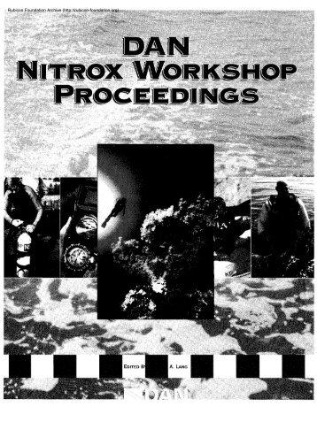 Nitrox workshop dings - Divers Alert Network